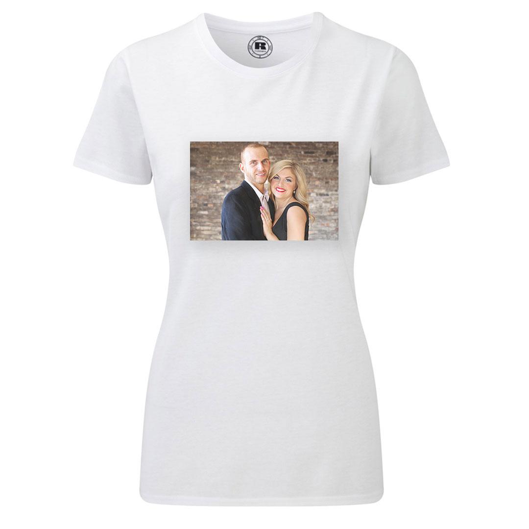 Дамска тениска със снимка - XL