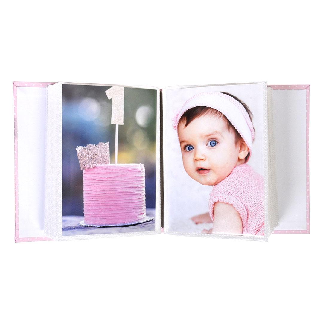 Комплект рамка и албум - Мече - розов