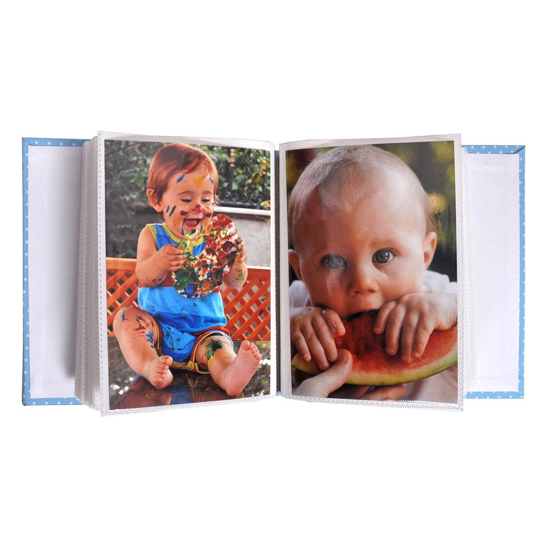 Комплект рамка и албум - Мече - син